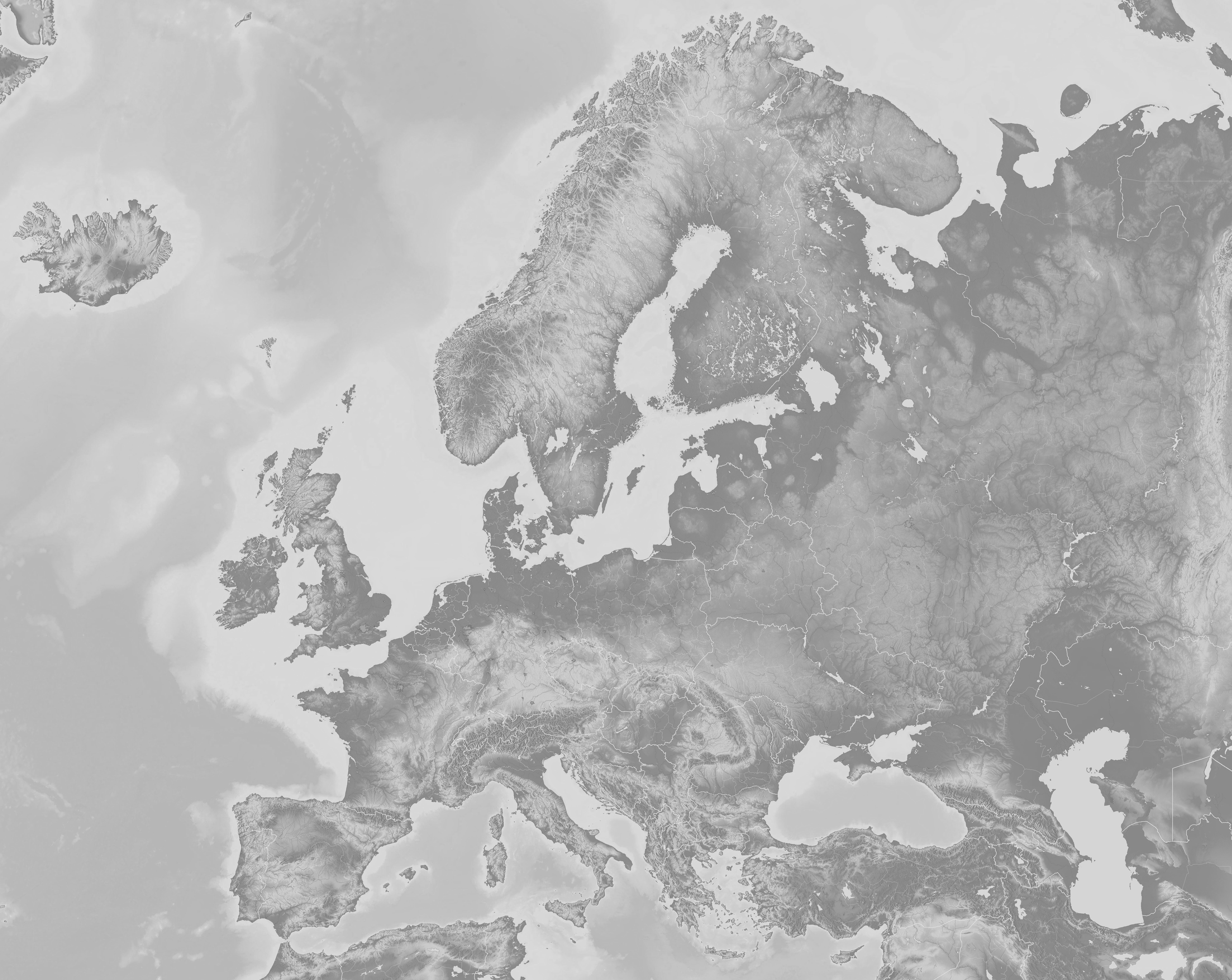 Karte Europa Schwarz Weiss.Vorlagen Leere Landkarten